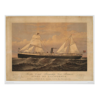 """State of California"" Steamer (1275A) Poster"