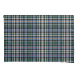 State of Colorado Tartan Blue and Black Plaid Pillowcase