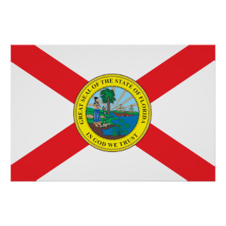 State of Florida flag Print
