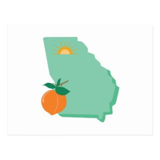 State Of Georgia Postcard