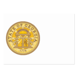 State of Georgia seal Business Cards