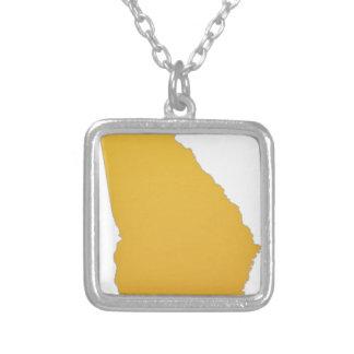 State of Georgia Square Pendant Necklace