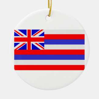 State of Hawaii Round Ceramic Decoration