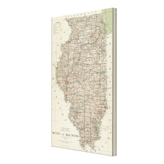 State of Illinois Canvas Print