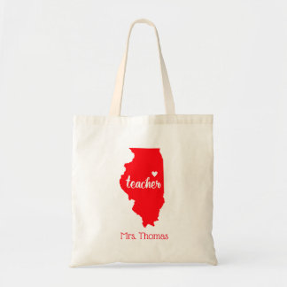 State of Illinois Personalized Teacher Tote