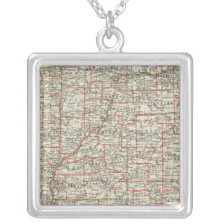 State of Illinois Silver Plated Necklace