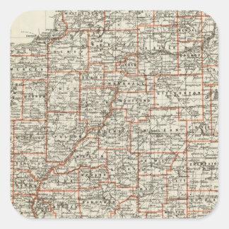 State of Illinois Square Sticker