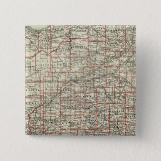 State of Indiana 15 Cm Square Badge