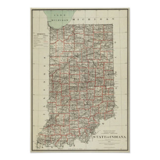 State of Indiana Poster