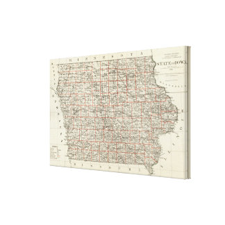 State of Iowa Canvas Print
