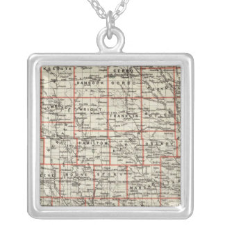 State of Iowa Silver Plated Necklace