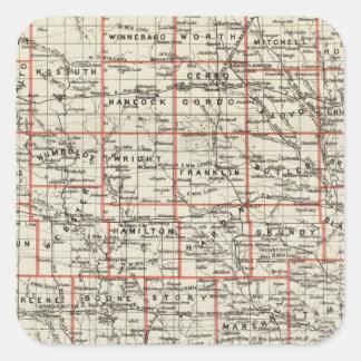 State of Iowa Square Sticker