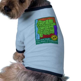 State of Jefferson Doggie Tee Shirt