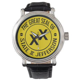 State of Jefferson Vintage Leather Watch