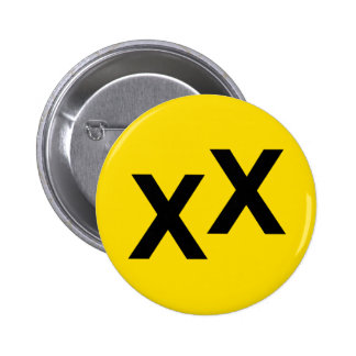 State of Jefferson X X Double-Cross Button Badge