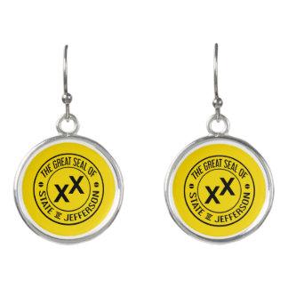 State of Jefferson X X Drop Earrings