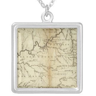 State of Kentucky Silver Plated Necklace