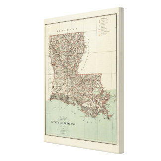 State of Louisiana Canvas Print