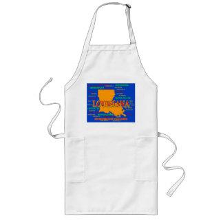 State of Louisiana Map, New Orleans, Shreveport Long Apron