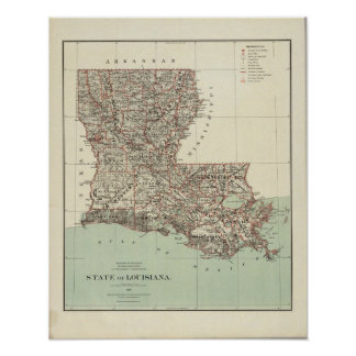 State of Louisiana Poster