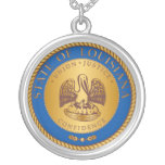 State of Louisiana seal Personalized Necklace