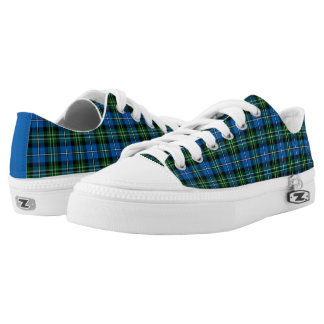 State of Louisiana Tartan Canvas Low Tops