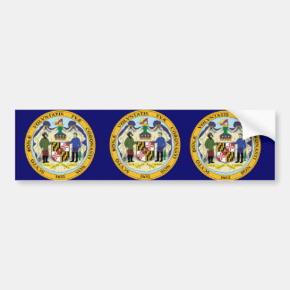STATE OF MARYLAND SEAL BUMPER STICKER