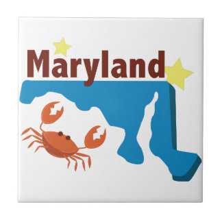 State Of Maryland Small Square Tile