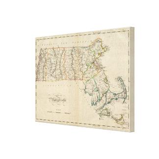 State of Massachusetts 3 Canvas Print