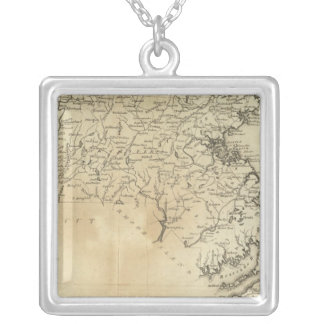 State of Massachusetts Silver Plated Necklace