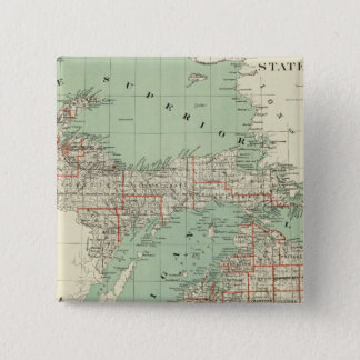 State of Michigan 15 Cm Square Badge