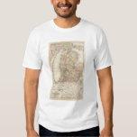 State of Michigan Atlas Map Tee Shirts
