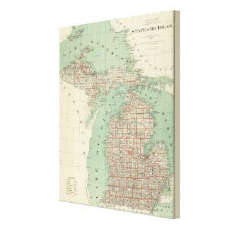 State of Michigan Canvas Print