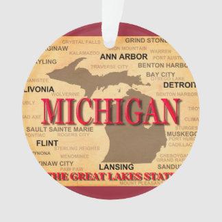 State Of Michigan Map, Detroit, Lansing
