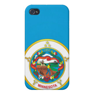 State of Minnesota flag iPhone 4 Cases