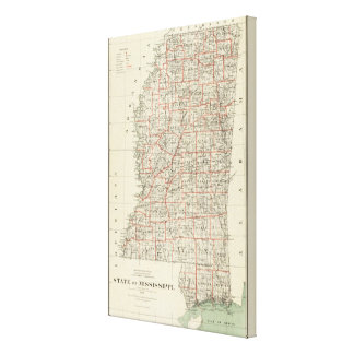 State of Mississippi Canvas Print