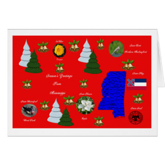 State of Mississippi Christmas Greeting Card