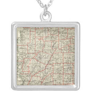 State of Mississippi Silver Plated Necklace