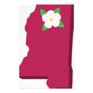 State Of Mississippi Personalized Stationery
