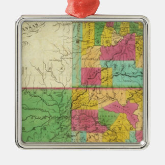 State of Missouri and Territory of Arkansas Silver-Colored Square Decoration