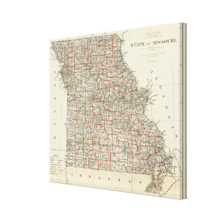 State of Missouri Canvas Print