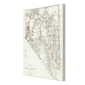 State Of Nevada Stretched Canvas Print