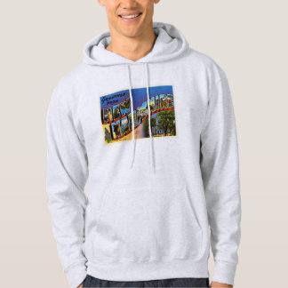 State of New Hampshire NH Vintage Travel Souvenir Hoodie