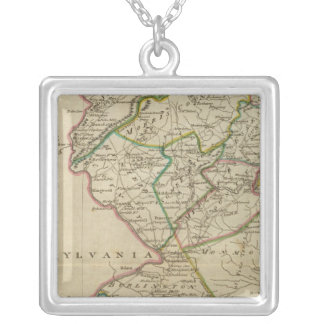 State of New Jersey 3 Silver Plated Necklace
