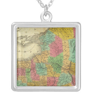 State of New York 3 Silver Plated Necklace