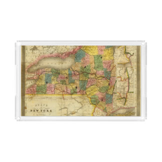 State of New York by DH Burr Acrylic Tray