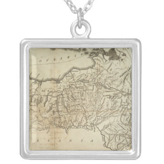 State of New York Silver Plated Necklace