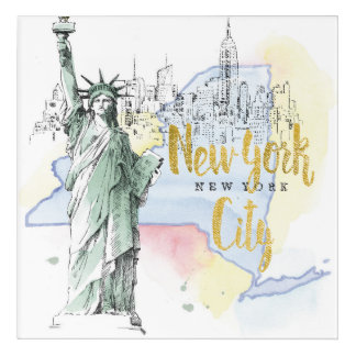 State of New York | Statue of Liberty Acrylic Wall Art