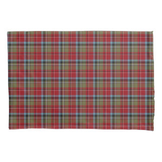 State of North Carolina Tartan Colorful Plaid Pillowcase