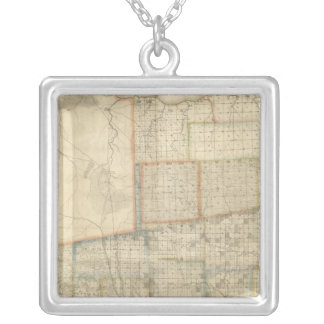 State of Ohio 2 Silver Plated Necklace